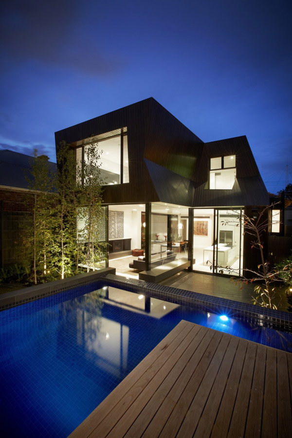 Dazzling Duplex House Design With Lucent Glazing And