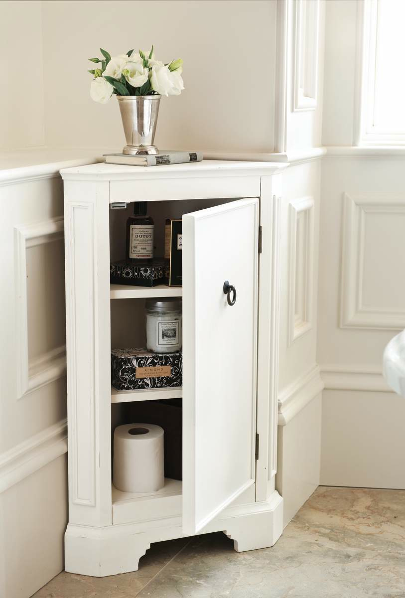 SpaceEfficient Corner Bathroom Cabinet for Your Small Lavatory  Ideas 4 Homes