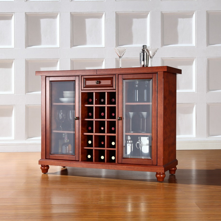 Beautiful Wooden Cabinet with Glass Doors for Your Storage Solution  Ideas 4 Homes