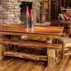 Rustic Dining Table And Chairs Exercise Chair Ball Room Furniture Bringing Cozy Nature