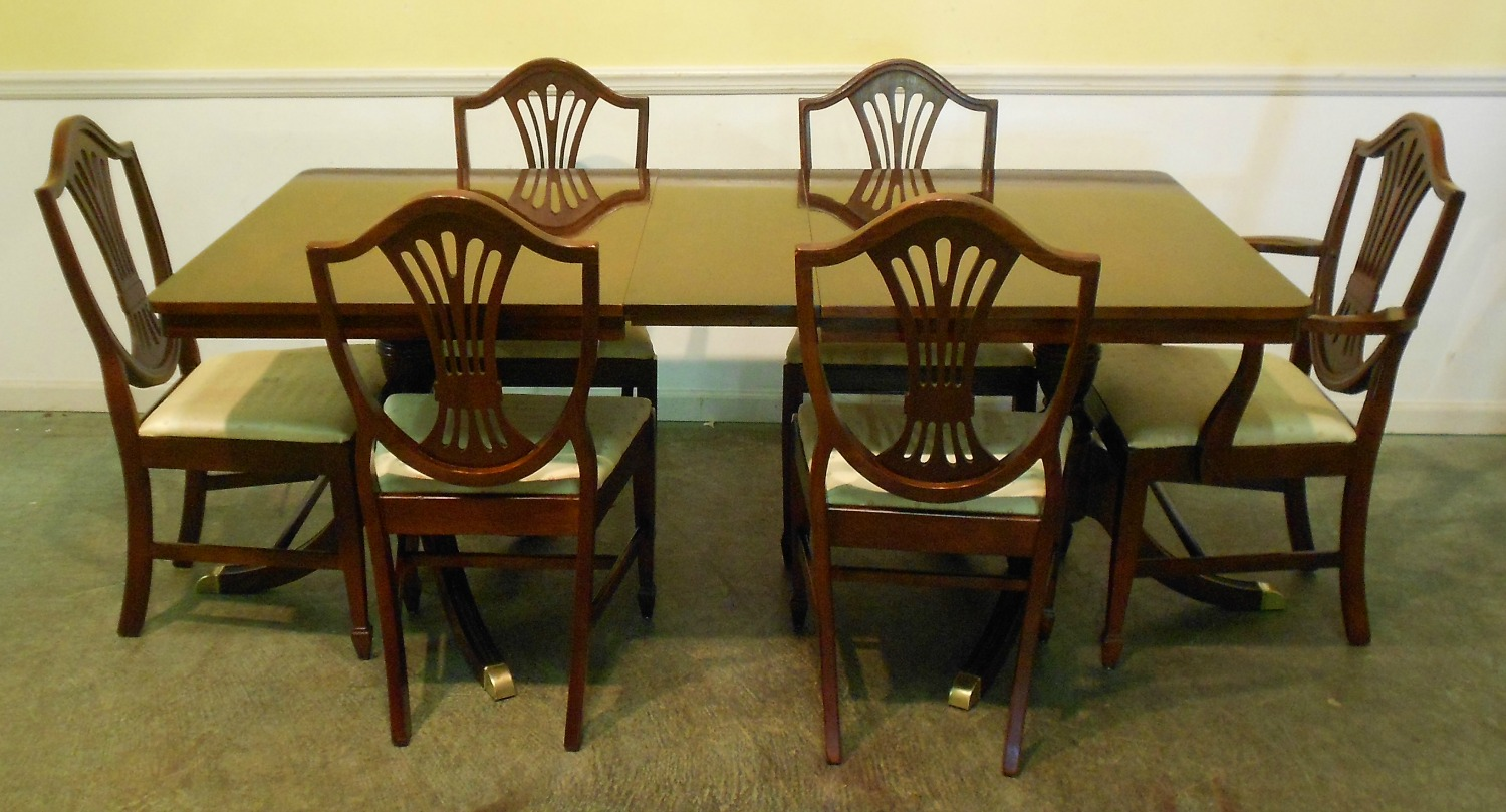 retro dining room table and chairs high heel chair cheap lavish antique furniture emphasizing classic