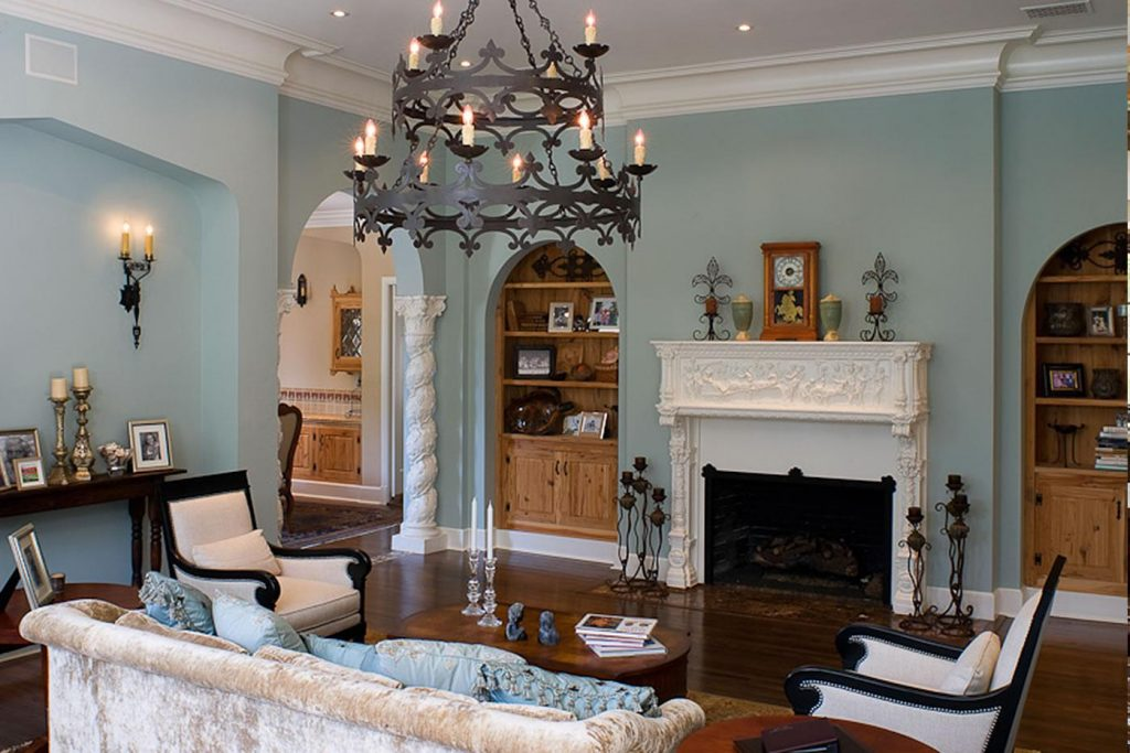 dark blue sofa living room paint color ideas with brown furniture decorating mediterranean ideas: how to create ...