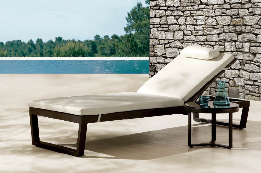 summer chaise lounge chairs indoor rattan chair cushions some great ideas for poolside furniture | 4 homes