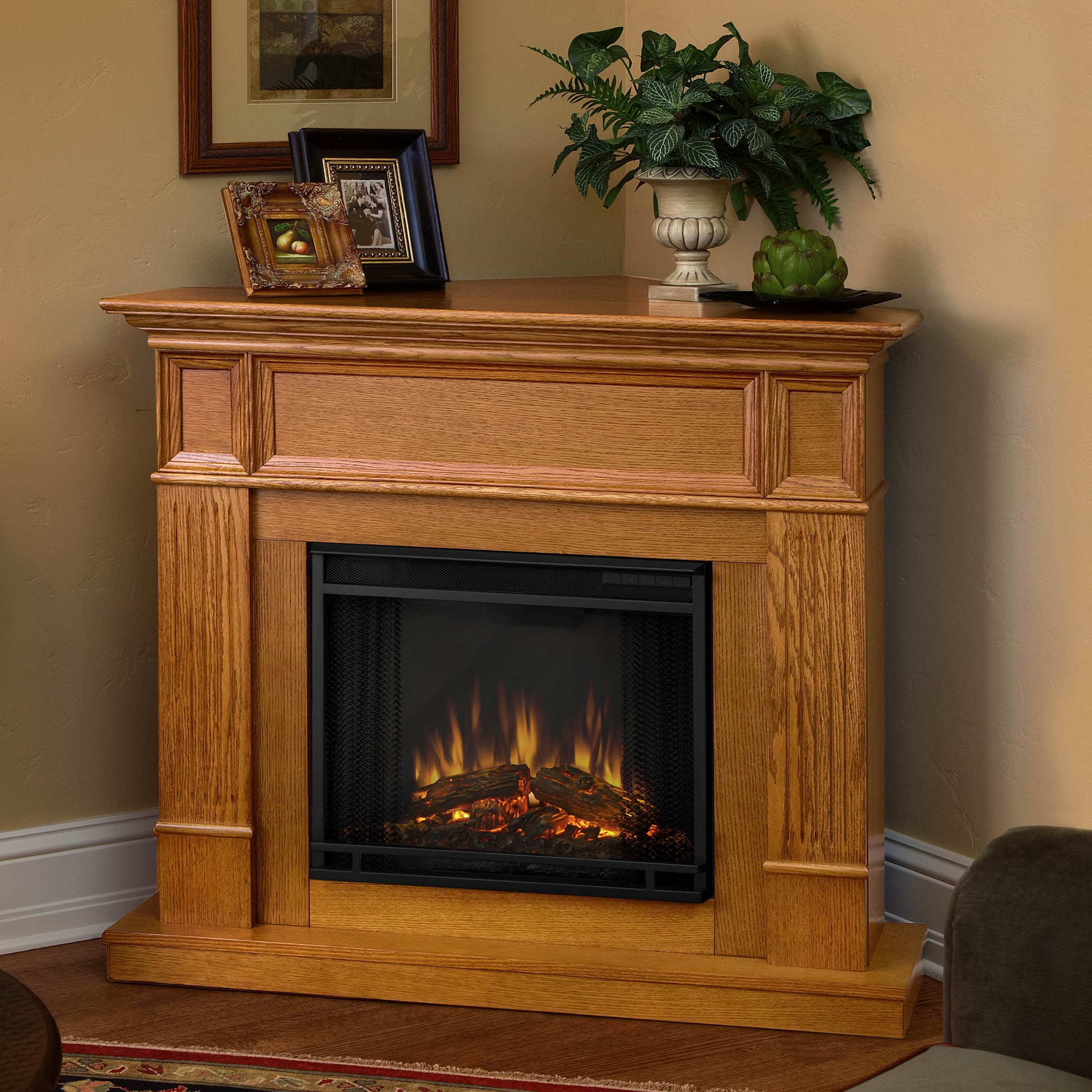 SpaceSaving Corner Electric Fireplace  Providing Warmth for Your Small Space  Ideas 4 Homes