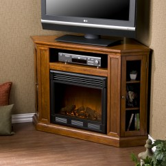 Corner Tv Living Room Ideas Storage Cabinet Space-saving Electric Fireplace - Providing Warmth ...