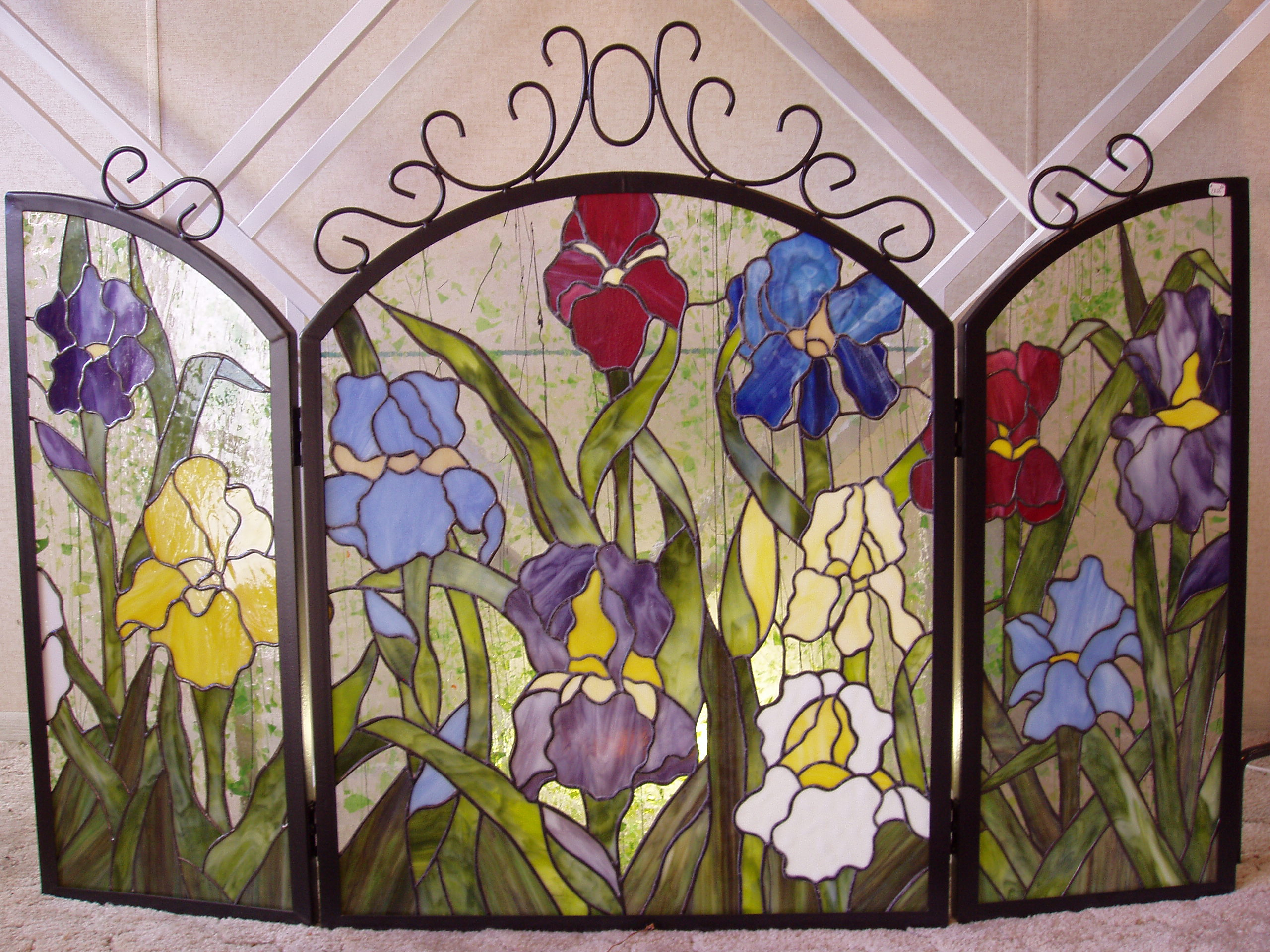 Amazing Stained Glass Fireplace Screen Designs with Intriguing Patterns  Ideas 4 Homes