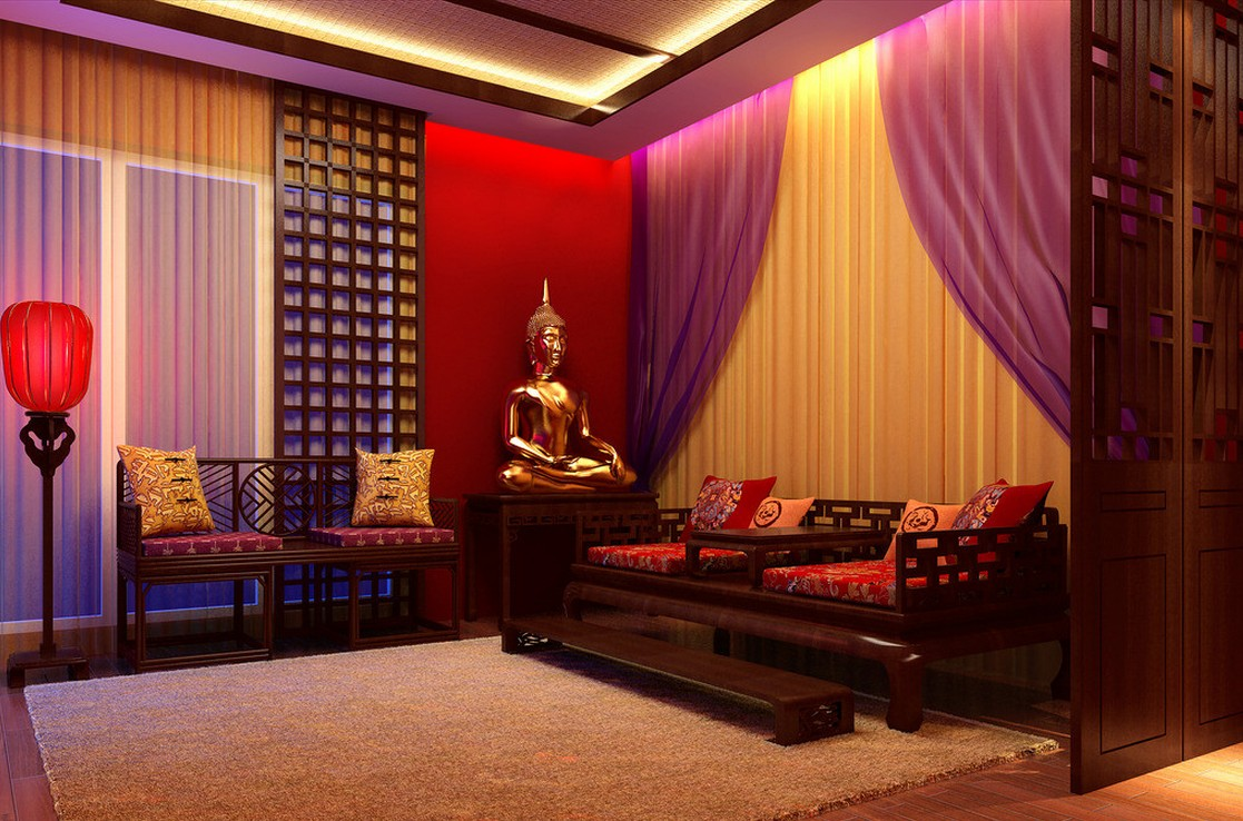 Serene Asian Interior Design For Peaceful And Elegant