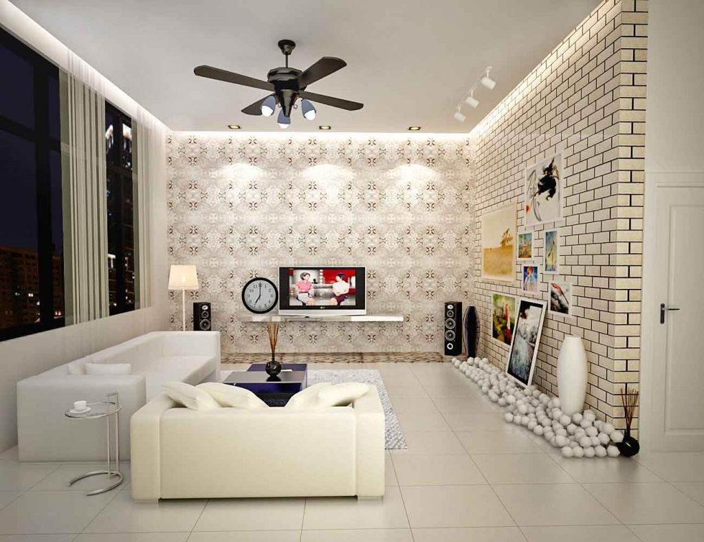 best wallpaper for small living room furniture studio apartments classic apartment interior design with feminine accents ideas 4 homes unique modern in family white sofas and stylish table
