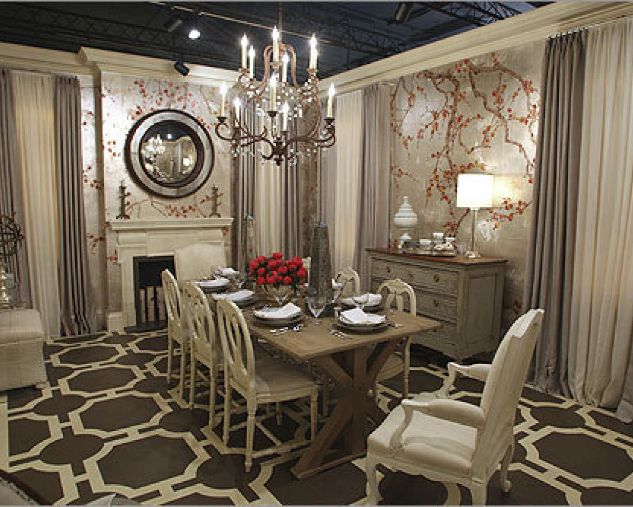 Antique Dining Room Ideas with Full of Earthy Hues Application  Ideas 4 Homes
