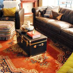 Red Rug Living Room Ideas Pictures Of Sofas In Rooms Deluxe Persian Designs With Artistic Collection Pleasant Brown Sofa On Plus Black Crate Desaign