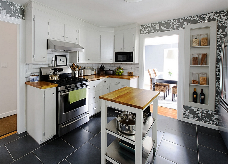 Space Saving Movable Kitchen Island To Get Efficient