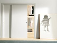 Stylish Sliding Closet Doors with Mirror Bringing Charms ...