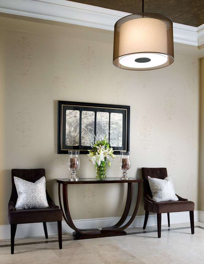 Modern Entryway Furniture With Storage And Light Foyer Decorating Ideas