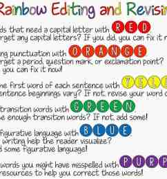 Rainbow Editing and Revising {FREEBIE!}   Ideas by Jivey [ 900 x 1200 Pixel ]