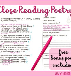 Close Read Poetry: BONUS LESSON!   Ideas by Jivey [ 897 x 1152 Pixel ]