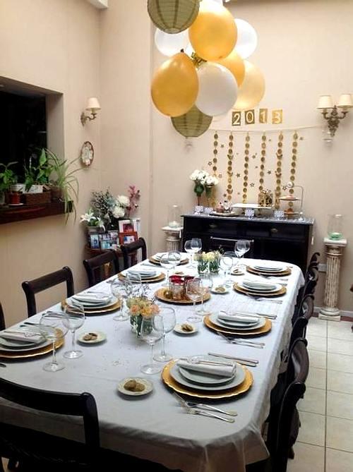 Ideas para Decorar Comedores en Noche Vieja  Ao Nuevo