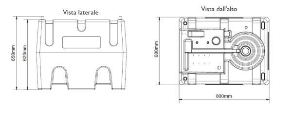 Cisterna per Diesel e Biodiesel con pompa manuale. 220 litri
