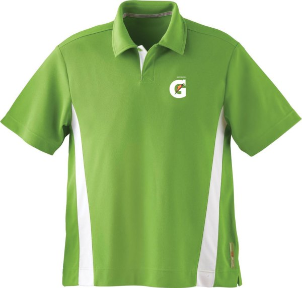 Men' Polyester Pique Polo With Stripe - Gatorade