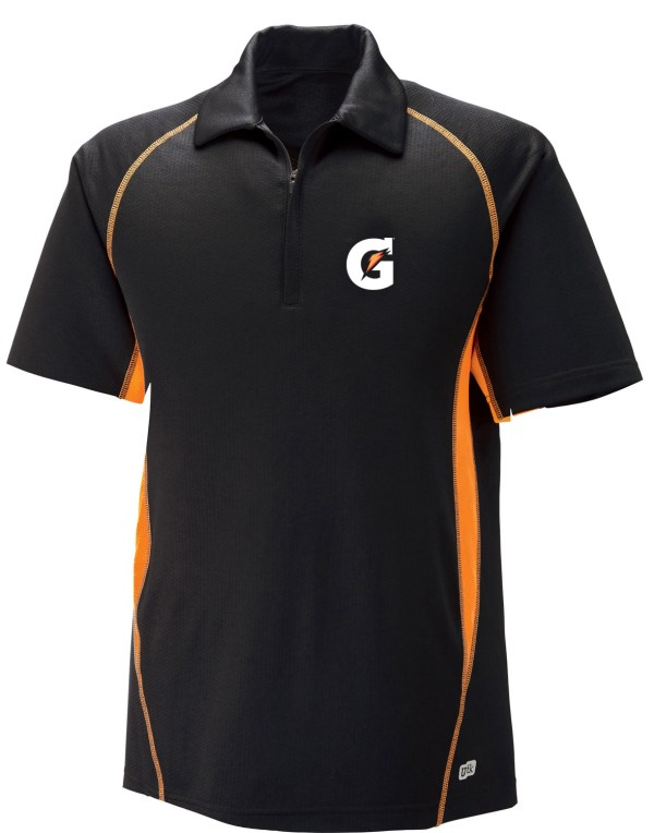 Men' Cool Logic Performance Zippered Polo - Gatorade