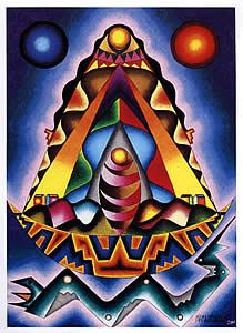 Pachamama del Sol y la Luna, de Mamani Mamani (Bolivia)