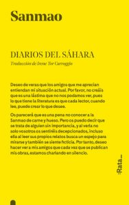 10 libros para viajar sin moverte del sofá: Diarios del Sáhara, Sanmao (Ideas on Tour)
