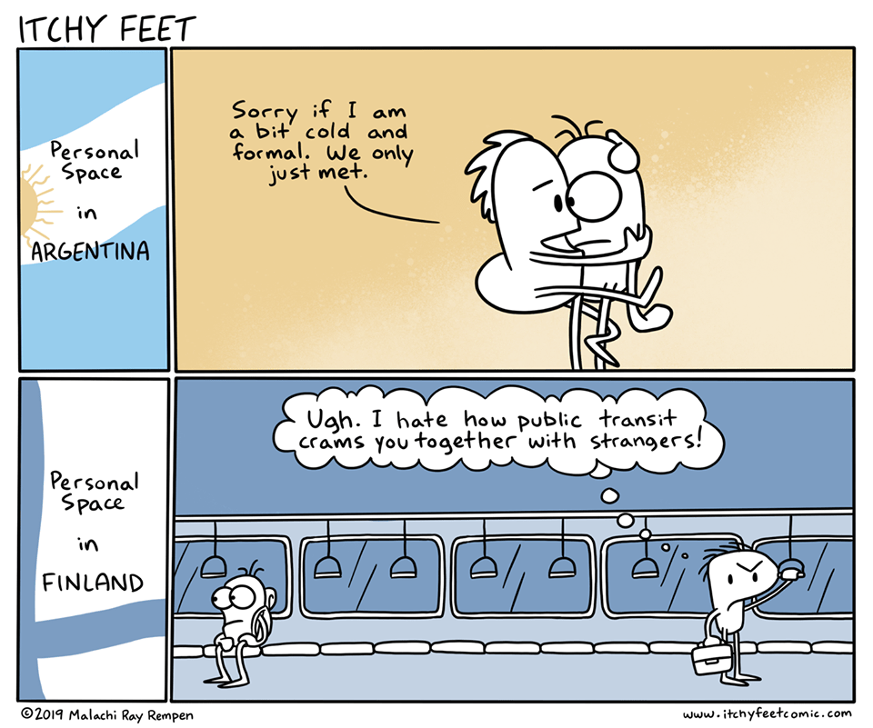 Personal space @itchyfeet - Itchy Feet