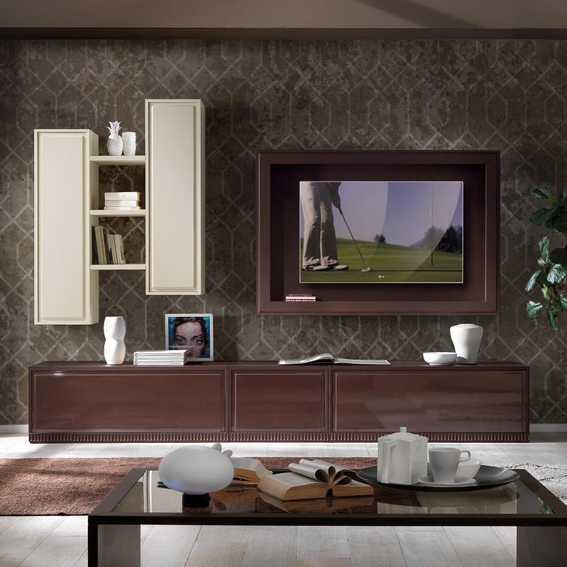 Concludiamo la nostra carrellata di immagini con queste due proposte per l'arredo del vostro soggiorno in stile classico. Mobile Soggiorno Marte In Stile Classico Contemporaneo