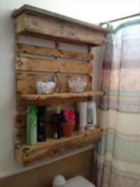DIY Pallet Bathroom Shelf and Storage Ideas | Ideas with ...