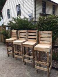 DIY Wood Pallet Stool Chair Ideas | Ideas with Pallets