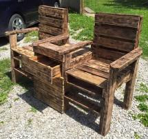 Wood Pallet Outdoor Bench