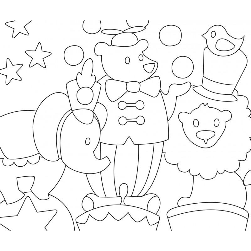 kit créatif enfant 3 cartes sable le cirque