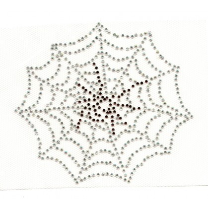 transfert en strass toile d'araignée à thermocoller 11x12cm