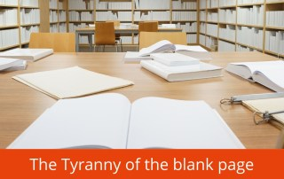 Tyranny of the blank page how to get over writers block