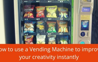 use a vending machine to improve your creativity