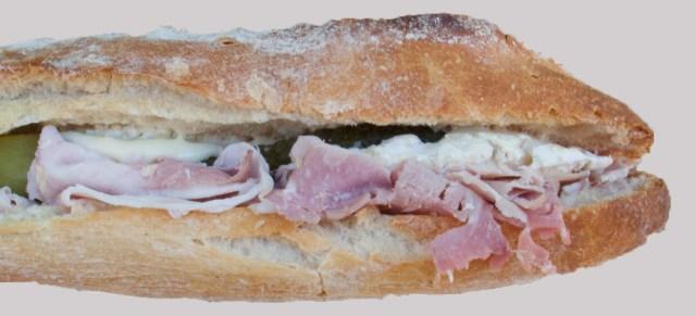 Sandwich au véritable jambon de Paris