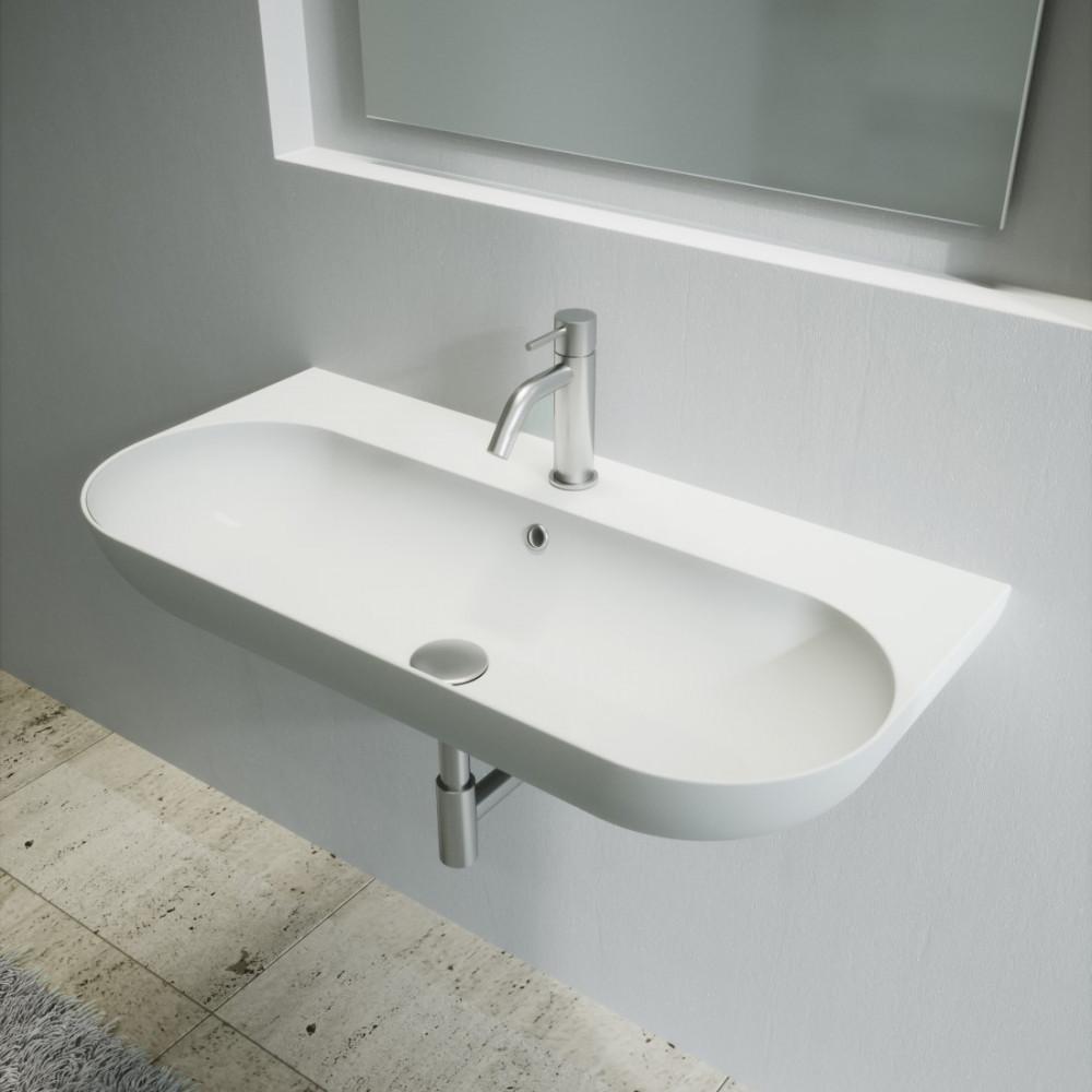 wall hung sink for bathroom 90 cm milady olympia