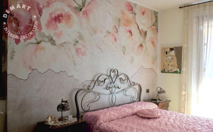 Le carte da parati sono perfette sulla parete dietro il letto, per creare un punto focale di. Decorare Pareti Interne Con La Carta Da Parati Moderna E L Affresco Digitale Ideedicasa It