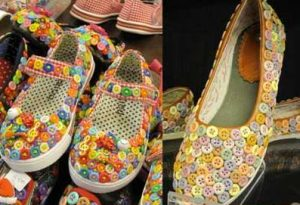 scarpe decorate cn bottoni fai da te