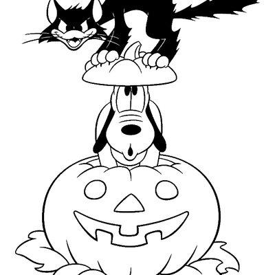 Halloween disegni da colorare Disney