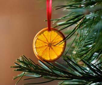 Decorazioni per lalbero di Natale con le arance secche