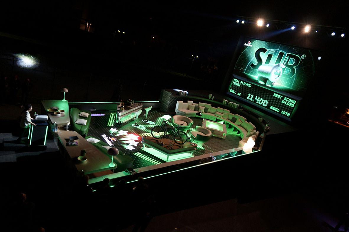 The Sub Heineken diventa il flipper pi grande del mondo