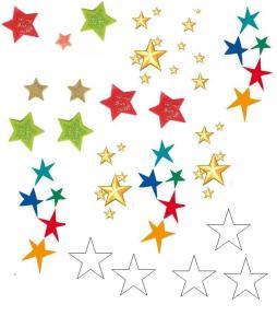 foglio di stelle da stampare