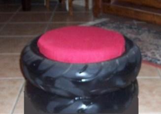 fare un pouf con pneumatici