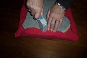 rivestimento della seduta del pouf