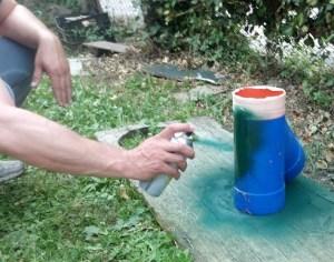 verniciare i tubi di plastica