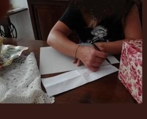 disegnare sagoma di cartone