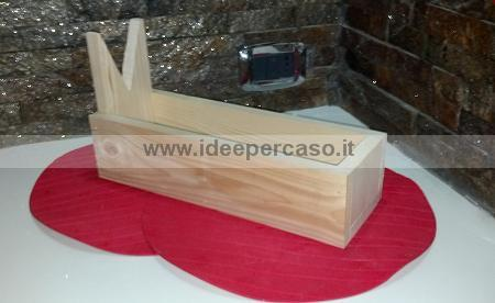 Come fare una cassetta di legno fai da te porta prosciutto for Come costruire i passaggi della scatola