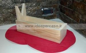 casstta legno fai da te porta prosciutto