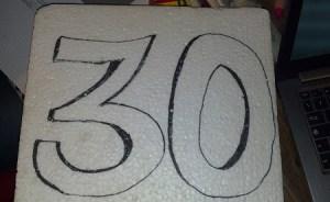 fare scritta numero sul polistirolo
