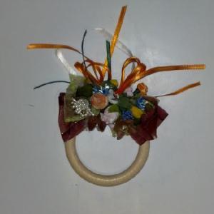 riciclo creativo fare segna posto porta tovagliolo con anelli di legno